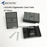47x70mm Chain Track Pads for Laguna Edge Bander Machine