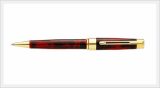 Lacquered Wooden Ball Point Pen (Black & Red)