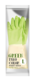 RUBBER GLOVE WITH TWO TONE COLOR
