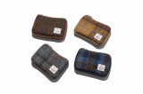 HARRIS TWEED CARD ZIP WALLET