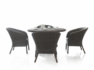 Outdoor Furniture Rattan Wicker Cafe Table And Chair D510 S210