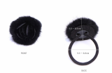 rabbit fur hair ring