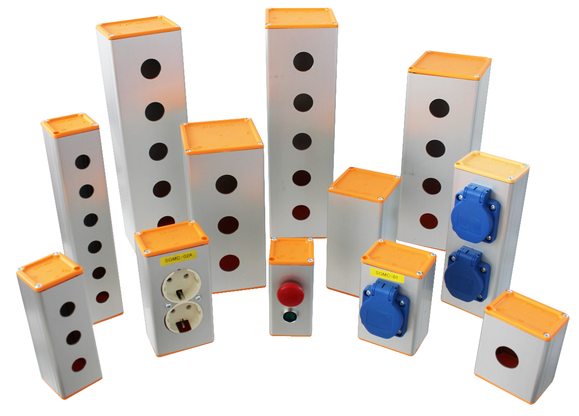 Aluminum Profile Push Button Boxes