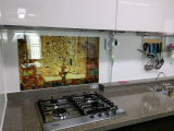 Kitchen grease proof tempered glass panel  _The tree of Life_4