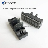 80x30mm HOMAG Edgebander Track Pads Converyor Chain Pads