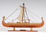 Wooden Model Boat Drakkar Viking Small