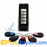 Wireless Key Finder Set with 1 Transmitter & 5 Receivers (20 M, Lightweight)