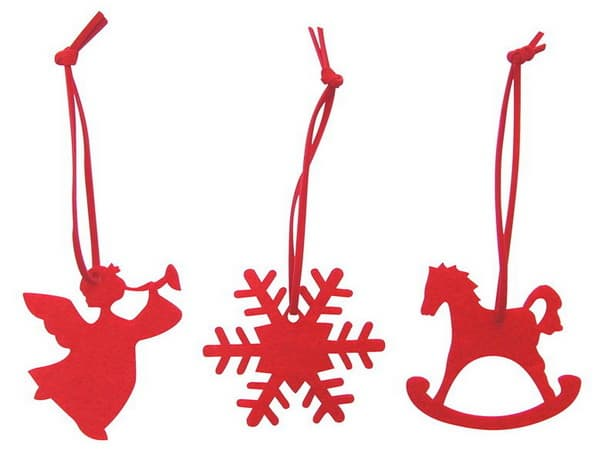 christmas tree decorations felt snowflake angel horse
