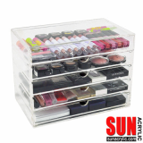 Clear Acrylic Makeup Drawer Box Organizer
