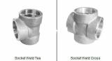 duplex stainless ASTMA182 F59 socket weld tee