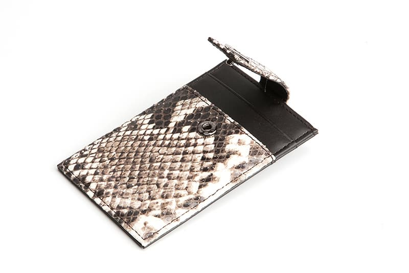 Python Embossed Calf Skin Card Money Clip