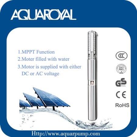 Brushless Permanent magnet  DC Solar submersible pump_4SP2_5
