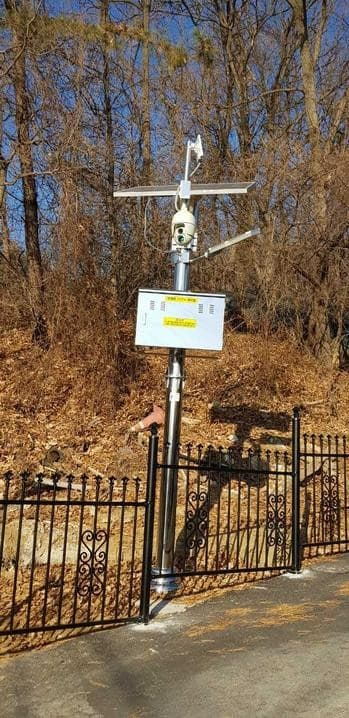 Tracking solar system CCTV and security light