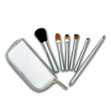 Twinkle Siver Travel Zip Brush Set