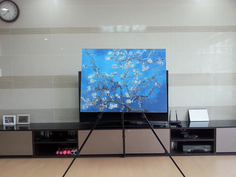 Kitchen grease proof tempered glass panel  _Blossoming Almon_8