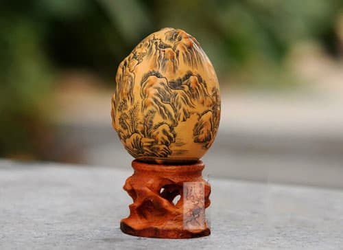 HUYIXUAN Miniature Carved Decoration Gourd Landscape