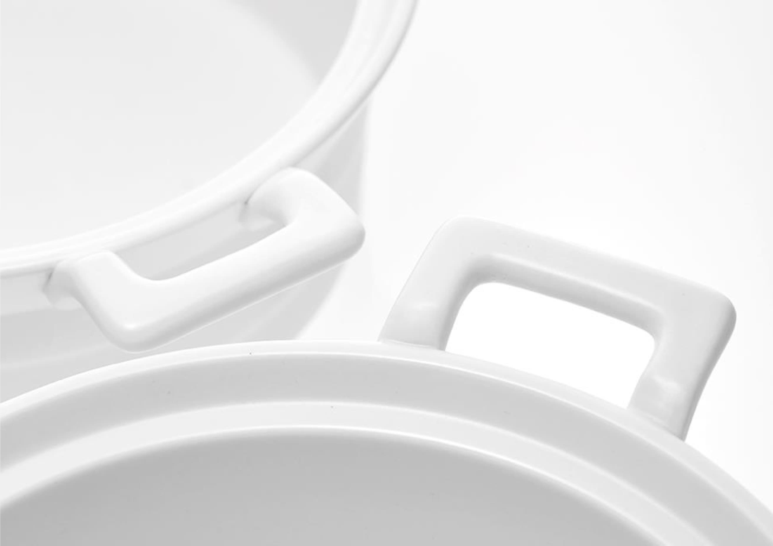 White Ceramic Heat proof Pot for Induction