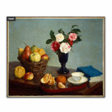 Kitchen grease proof tempered glass panel  _Still Life 1866 _1