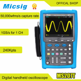 70MHz digital storage handheld oscilloscope with multimeter