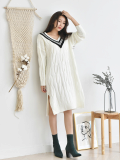 Dress_ V_Neck_ Knitwear_ Women_s Clothing