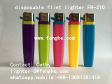 FH_210 slim flint lighter with printing disposable lighter
