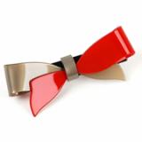 Resue Ribbon hair clamp / hair accessory