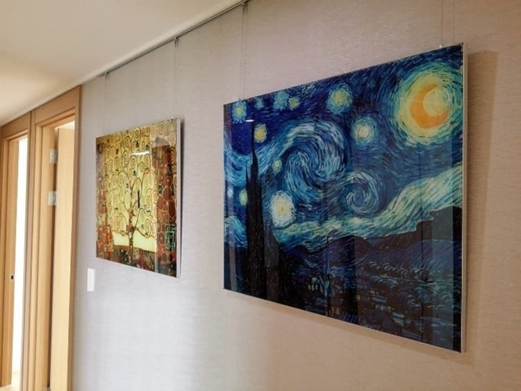 Kitchen grease proof tempered glass panel  _The Starry Night_2