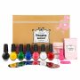KONAD Self nail art _DIY stamping set_ Gold set_ nail kit_
