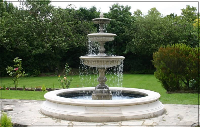 New design white marble outdoor water fountain from