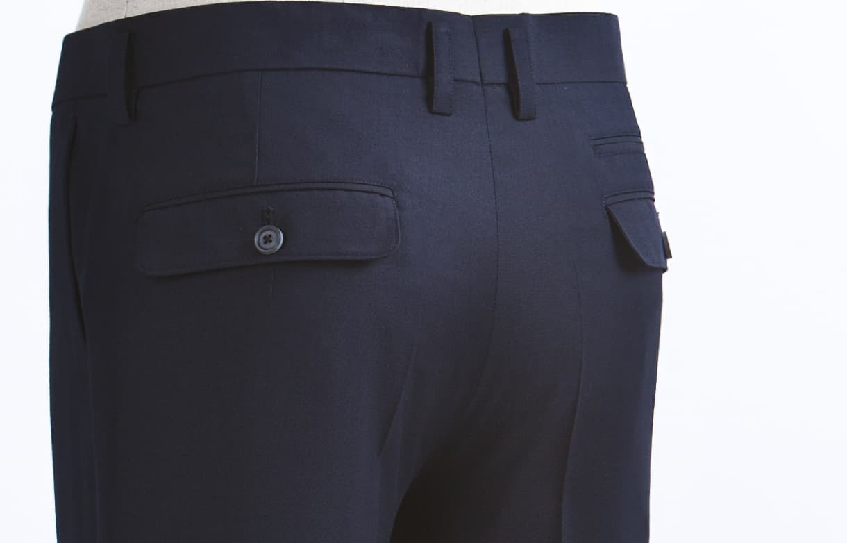 FULL LENGTH NAVY PANTS-P15F06NA-