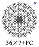 36x7+FC,36x7+IWS  steel wire rope