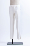 WHITE INCISION PANTS-P15F03IV-