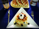 Coffee shop bakery_ Restaurant brunch_ frozen precook waffle