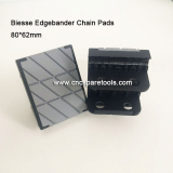 80x62mm Conveyor Chain Track Pads for BIESSE Edgebanding