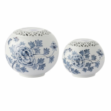 Jipyung Ceramics _Blue White Porcelain Incense Jar_