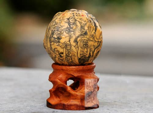 HUYIXUAN Delicate Miniature Carved Decoration Gourd Rohan