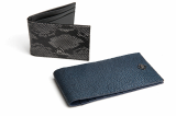 Real Stingray_ Alligator_Python Embossed Calf Skin Moneyclip
