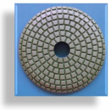 Convex Polishing Pad for curved counter tops