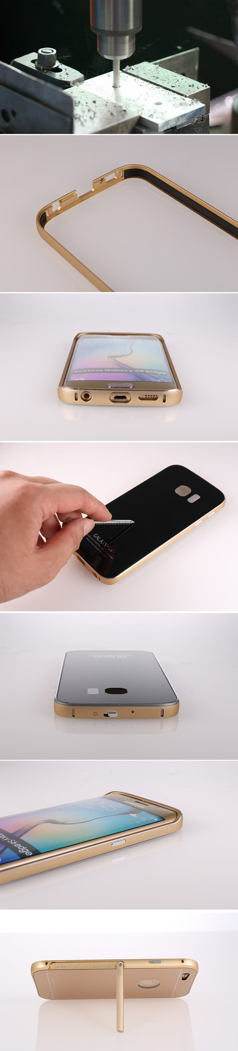 Smartphone Metal Tempered glass case