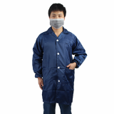 Industrial Conductive Fiber Antistatic Safety LAB Coats Navy