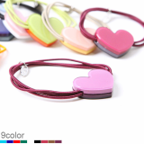 2t Heart ponytail holder