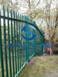 factory supply pvc coated  galvanized palisade fence