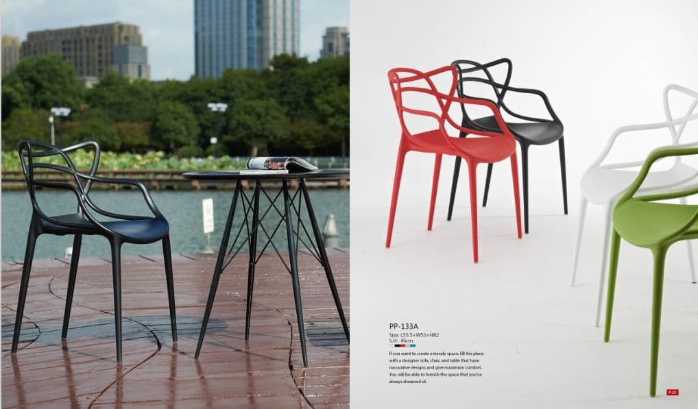 unique outdoor chair/patio plastic chair/outdoor cafe chair from