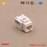 17806 Adson 90 degree RJ45 Cat6 UTP Keystone Jack Module