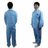100 Class Antistatic Cleanroom Coveralls for Lab and Factory