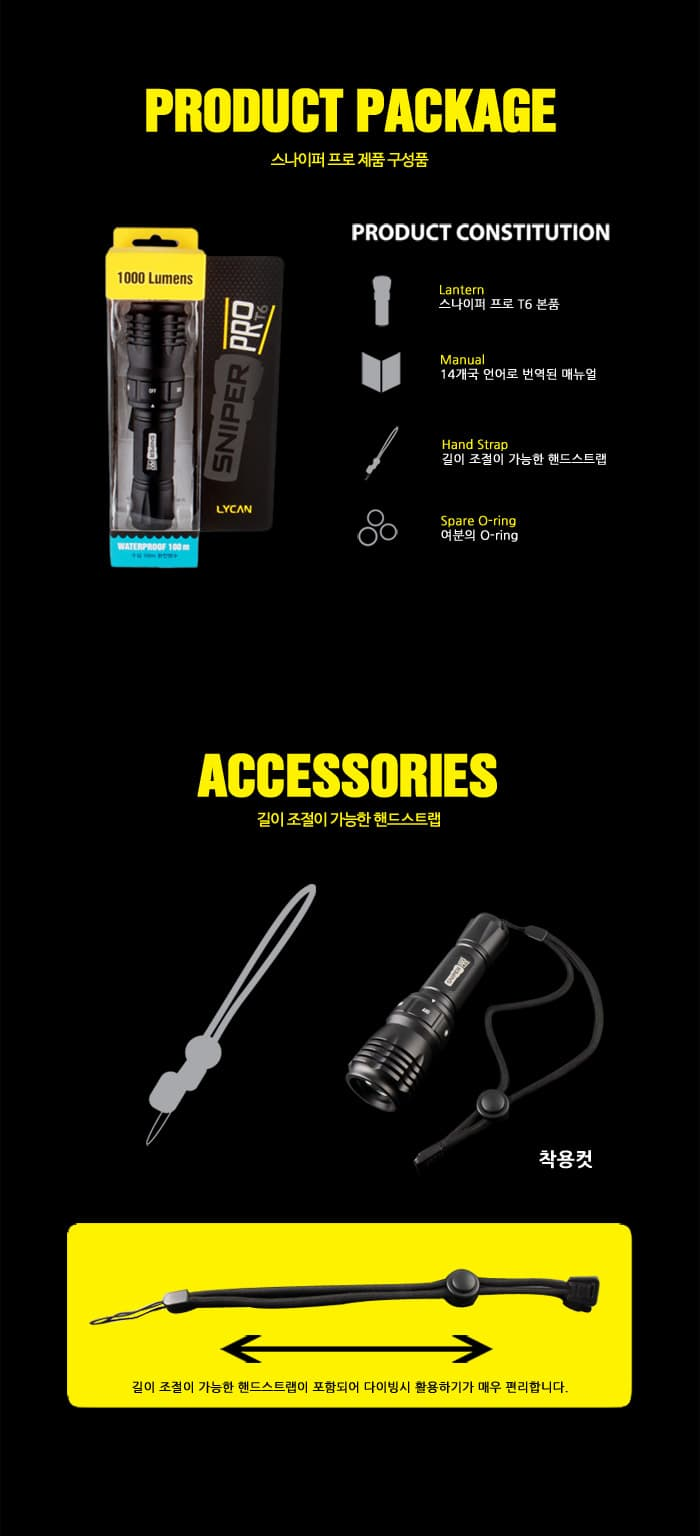 1000 Lumen Flashlight accessories
