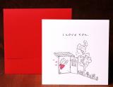 Handmade Letterpress Card, I Love You Card including Envelopes_1.jpg
