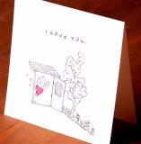 Handmade Letterpress Card, I Love You Card including Envelopes_2.jpg