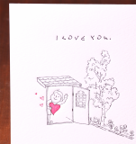 Handmade Letterpress Card, I Love You Card including Envelopes_3.jpg