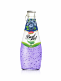Wholesale Fruit Juice Basil seed drink Blueberry flavour in